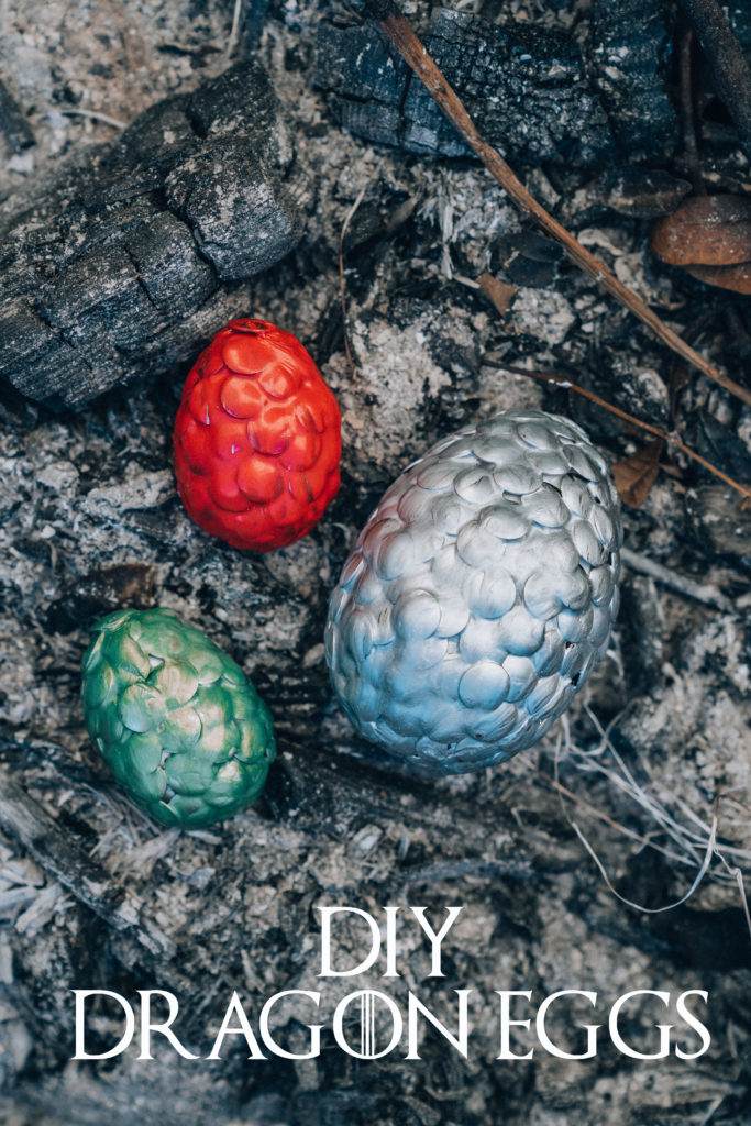 DIY Game of Thrones dragon eggs for party or home decor (via www.revengebakery.com)