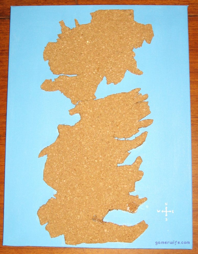 DIY cork map of Westeros for wall decor (via gamerwife.com)