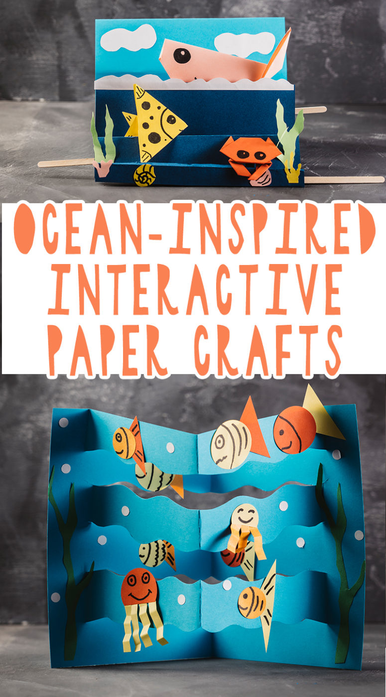 Ocean-Inspired Origami Interactive Paper Crafts