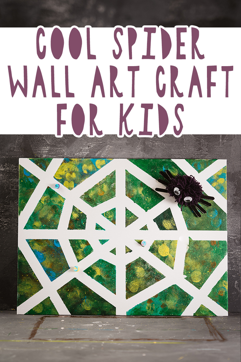 cool spider wall art crafts for kids