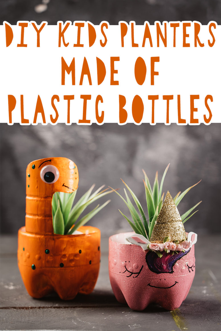 DIY Kids' Planters Made Of Plastic Bottles