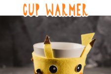 01 diy pikachu coaster and cup warmer