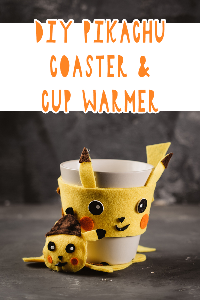 diy pikachu coaster and cup warmer