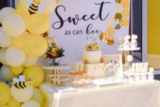 04 Honey baby shower is a great idea for both summer and fall, go for your favorite shades of yellow in decor