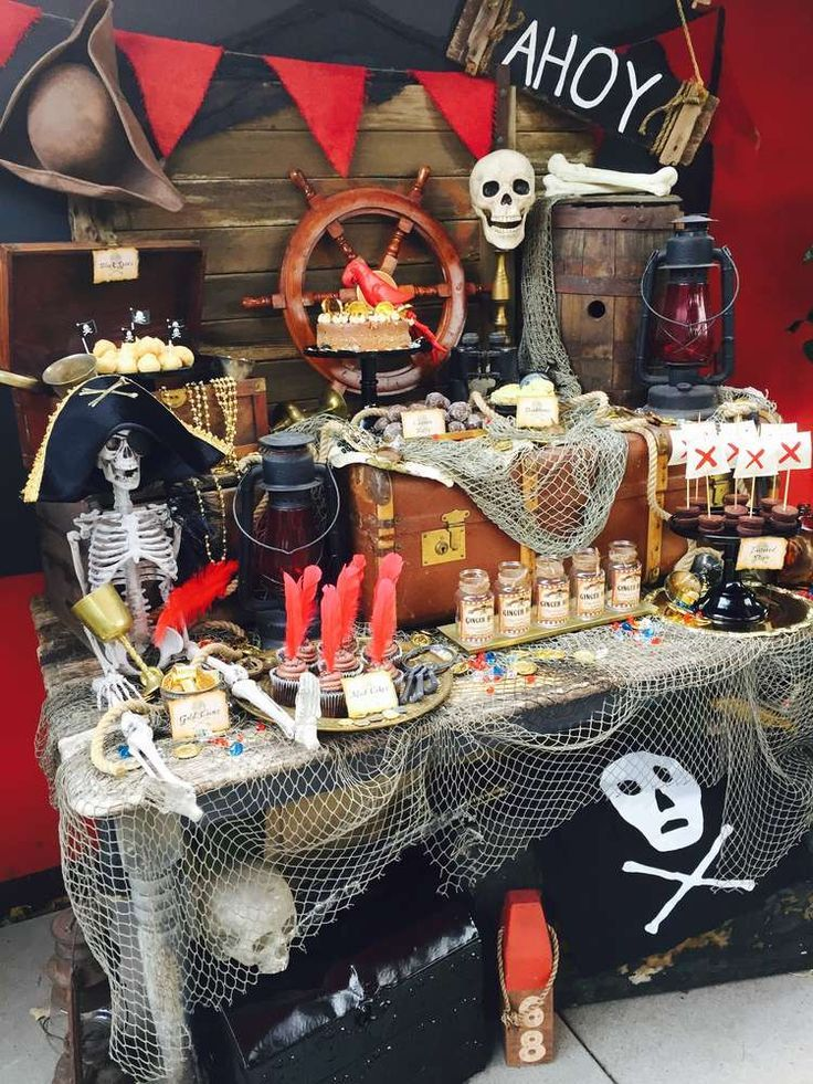 Pirate party theme is a whimsy and funny take on the nautical theme and will make your boy dream of adventures