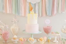 05 Ice Cream is a timeless summer baby shower party theme, don't forget a sundae bar