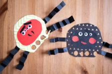 07 3 running paper spider crafts