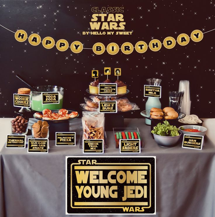 Star Wars birthday party will excite your young Jedi and his guests will be amazed, too