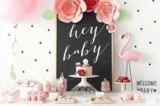09 Flamingo is a nice idea for a girl baby shower, it's close to tropical theme and is usually pink-infused