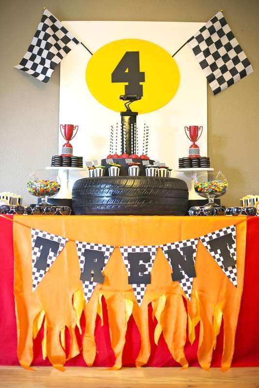 Car Race birthday party is a fun idea that most of boys and even girls will like