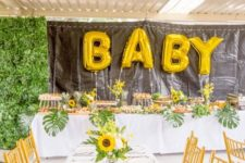 11 Sunflower or Summer Garden is a fun and simple baby shower theme, it's about simple sumer blooms and greenery