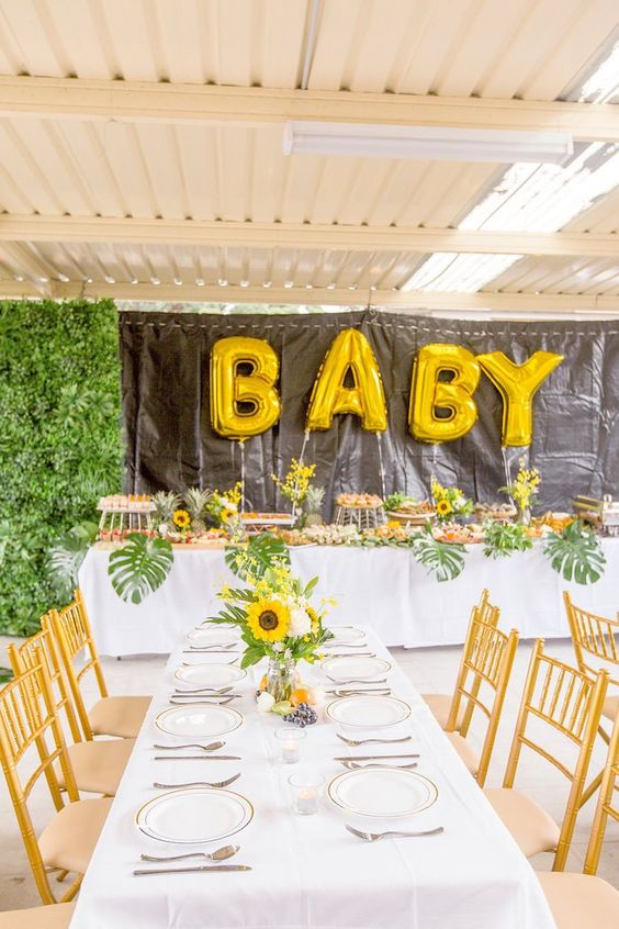 Sunflower or Summer Garden is a fun and simple baby shower theme, it's about simple sumer blooms and greenery