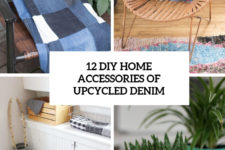 12 diy home accessories of upcycled denim cover