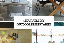 13 durable diy outdoor dining tables cover