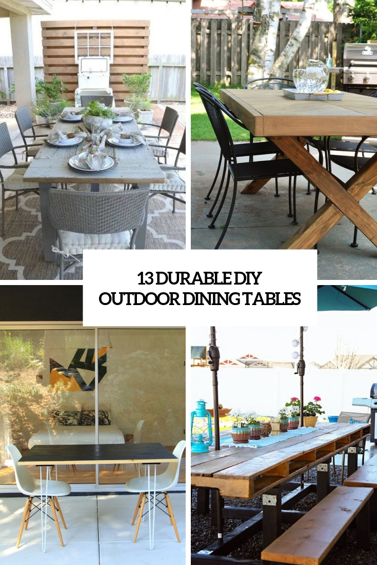 durable diy outdoor dining tables cover