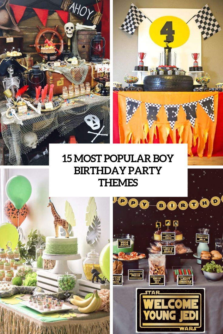 most popular boy birthday party themes cover