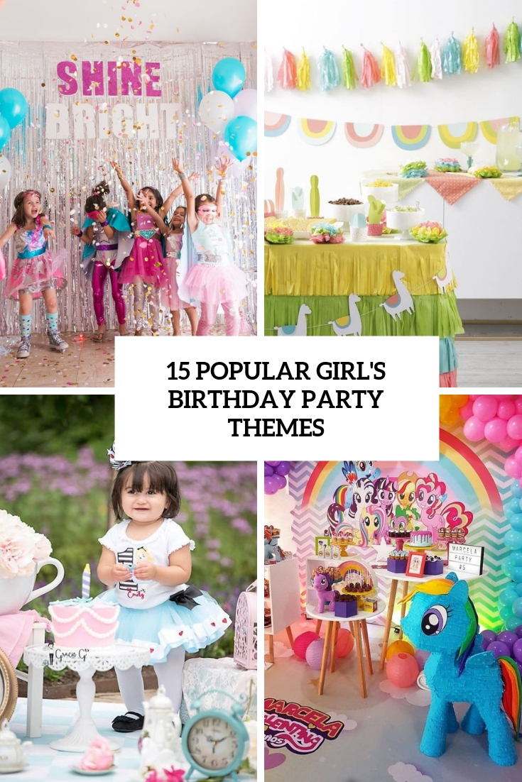 popular girl's birthday party themes cover