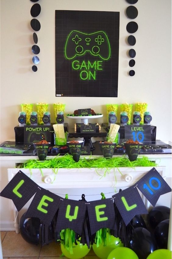 Video Gaming party theme is a fun idea that works for most of boys - they all love playing