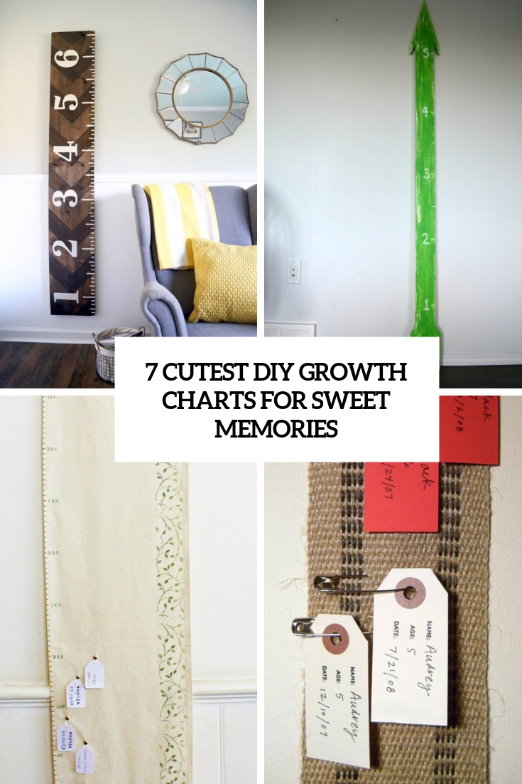 7 Cutest DIY Growth Charts For Sweet Memories
