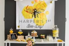 Bee Day birthday theme is a fun and timeless idea, which is especially cool for summer birthdays