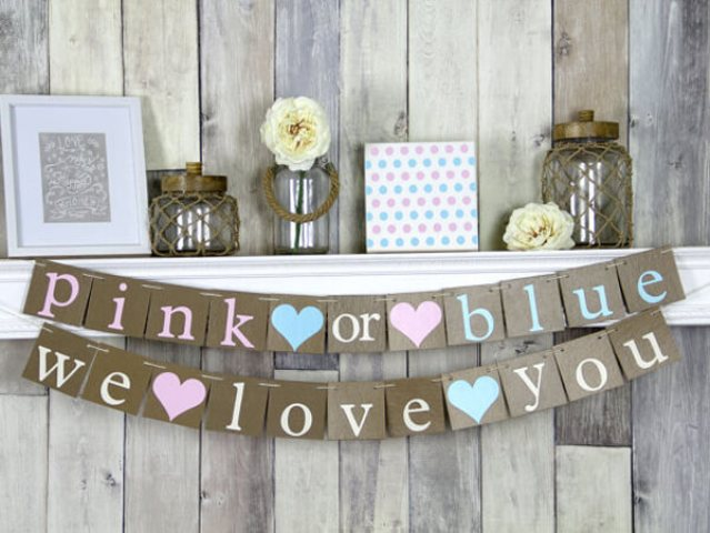 Pink or Blue is timeless, such a theme allows many types of decor, from modenr to rustic