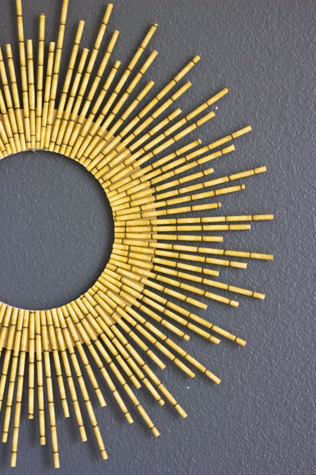 DIY straburst wreath of bamboo straws (via designimprovised.com)