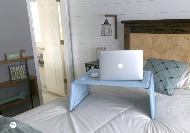 DIY repurposed cupboard door lap desk (via www.myrepurposedlife.com)