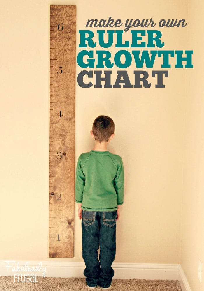 DIY simple rustic growth chart ruler