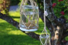 DIY simple nectar butterfly feeder in a jar