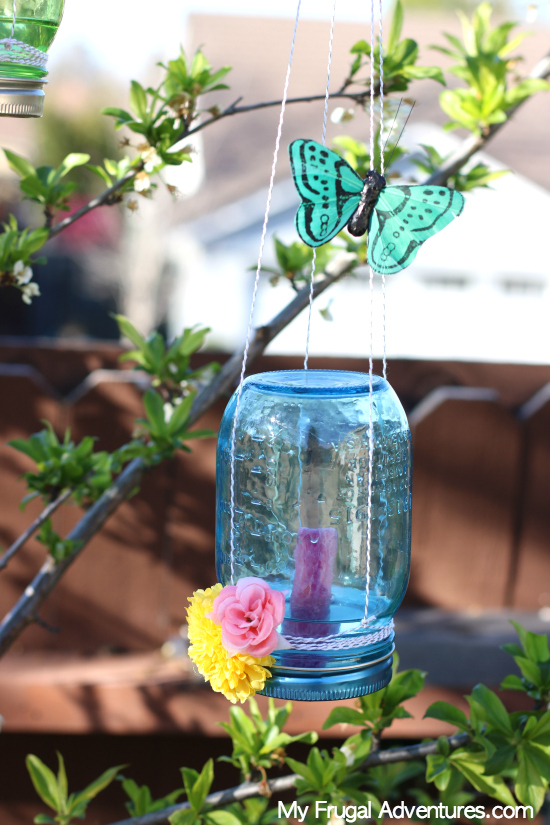 DIY mason jar and sponge butterfly feeder (via myfrugaladventures.com)