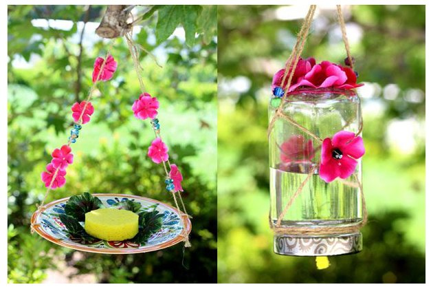 DIY butterfly feeder and waterer for attracting beautiful butterflies (via www.ehow.com)