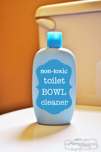 DIY non-toxic toilet bowl cleaner recipe (via mymerrymessylife.com)