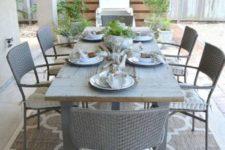 DIY reclaimed wood rustic outdoor table