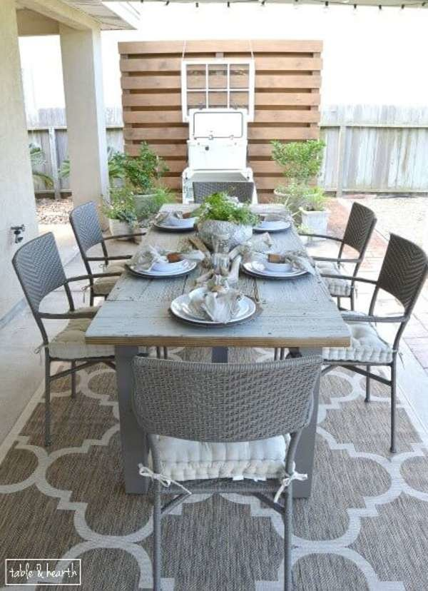 DIY reclaimed wood rustic outdoor table (via www.bobvila.com)