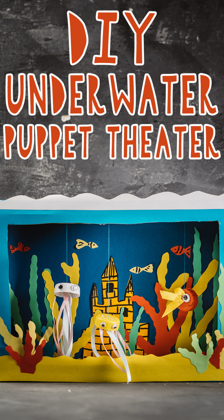 diy underwater puppet theater