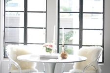 04 acrylic chairs in your dining space will raise it to a new level and give it a bold and modern feel