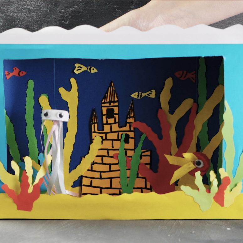 diy underwater puppet theater