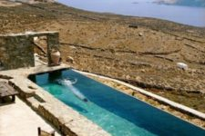 14 a natural terrace with a view and a long narrow pool clad with stone feels very Mediterranean