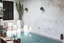a cool Moroccan inspired backyard design