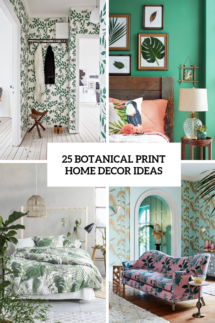 botanical print home decor ideas cover