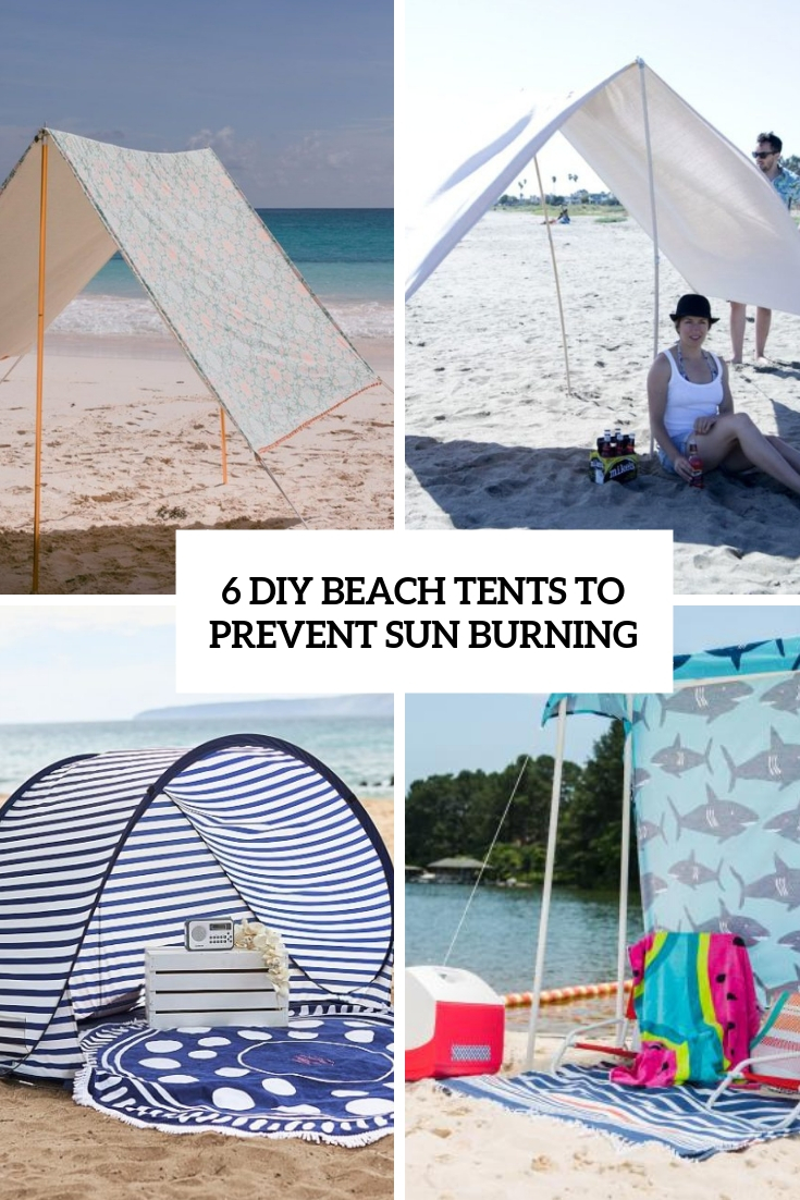 6 diy beach tents to prevent sun burning cover
