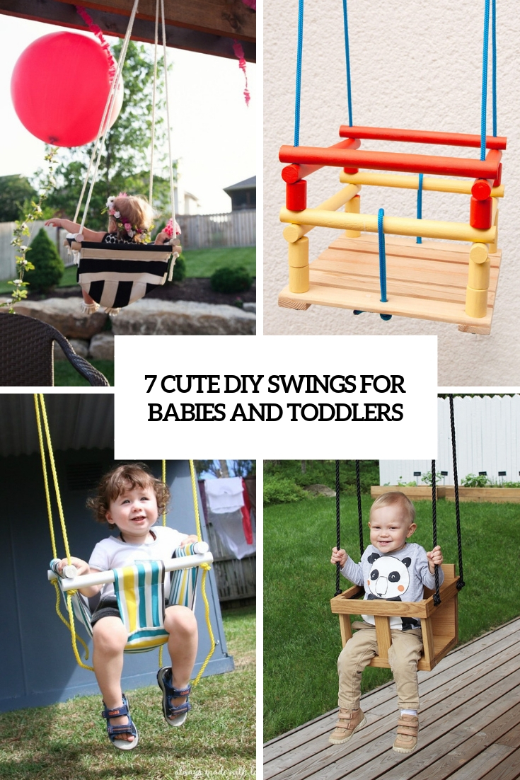 7 cue diy swings for babies and toddlers cover