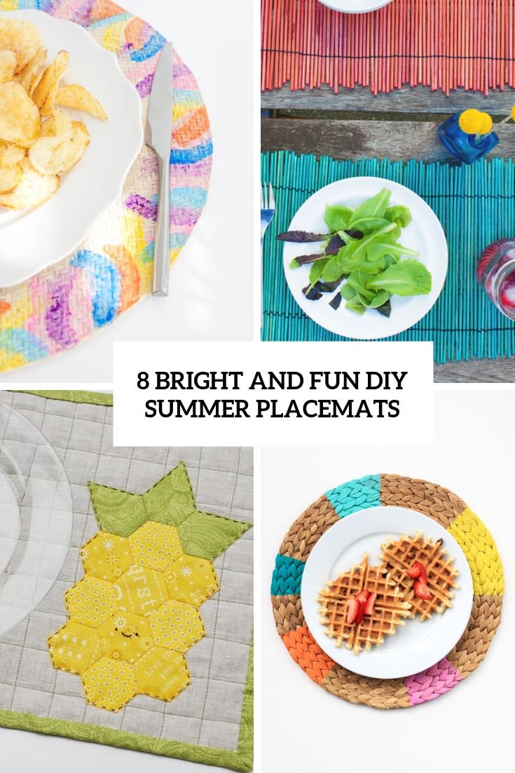 8 Bright And Fun DIY Summer Placemats