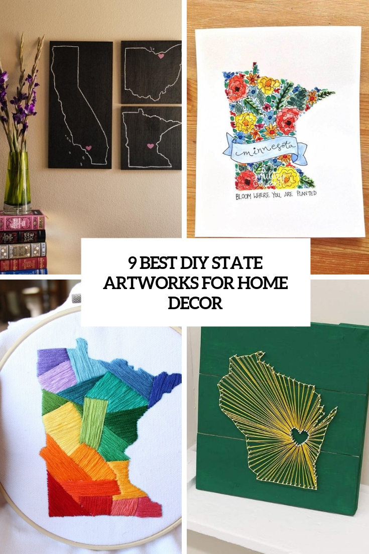 9 Best DIY State Artworks For Home Décor