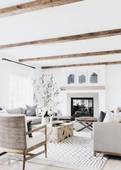 25 Beautiful And Cozy Farmhouse Living Rooms Shelterness
