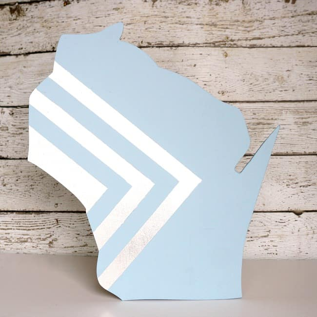 DIY geometric wood state art