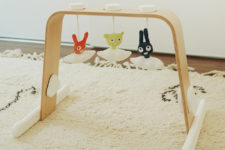 DIY IKEA Leka And Himmelsk hack into a cool baby gym
