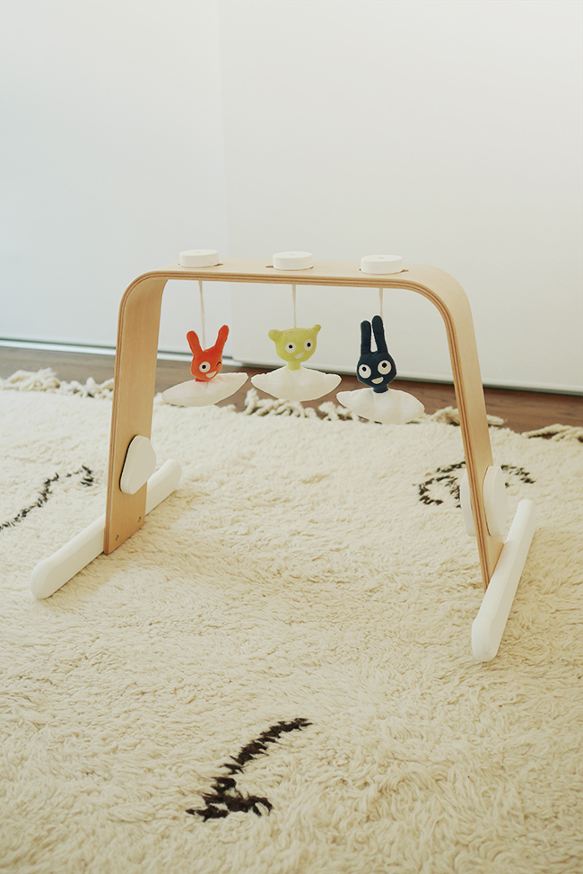 DIY IKEA Leka And Himmelsk hack into a cool baby gym (via almostmakesperfect.com)