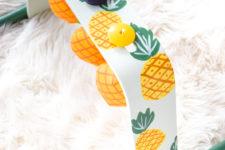 DIY bright pineapple baby gym