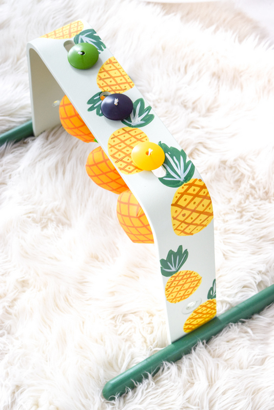 DIY bright pineapple baby gym (via fusionmineralpaint.com)